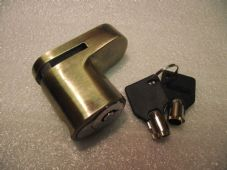 Steel disc lock with two keys barrel lock, snap fitting, clearance item!